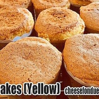 卵たっぷりの黄金カップケーキ