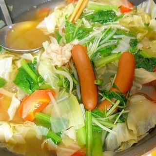 ウインナー野菜鍋 子供に人気