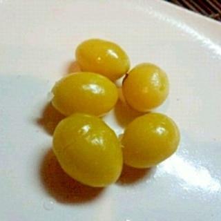 レンジとフライパンで、簡単銀杏殻むき