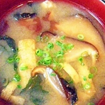 干椎茸と海藻MIXのお味噌汁