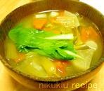 チンゲン菜・大根・かぼちゃの味噌汁