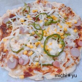 ハロウィンパーティ 米粉入り発酵なしの簡単ピザ生地