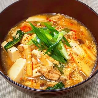 インスタント麺で本格酸辣湯麺♪