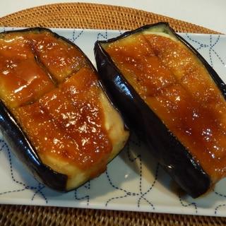 揚げない~米なすの味噌田楽☆