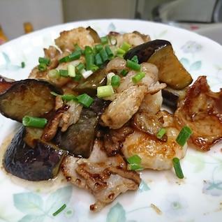 豚肉とナスとエビのオイスターソース炒め