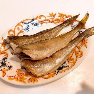 絶品簡単おつまみ☆ハタハタ一夜干しフライパン焼き
