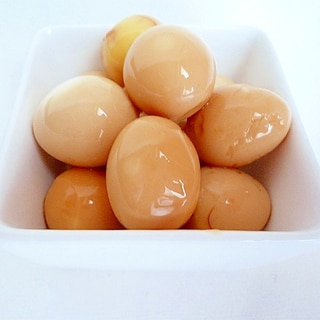 うずら玉子の麺つゆ漬け