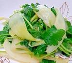 みつ葉と玉ねぎのみそサラダ
