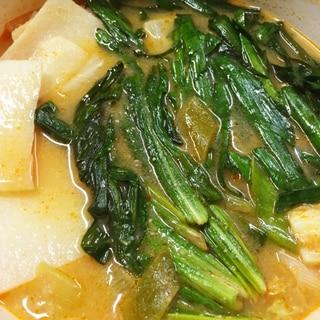最強⁈ ニラ&行者ニンニク&ナガイモのキムチ鍋