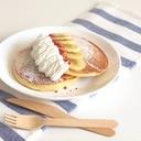 バナナと生クリームのホットケーキ♪