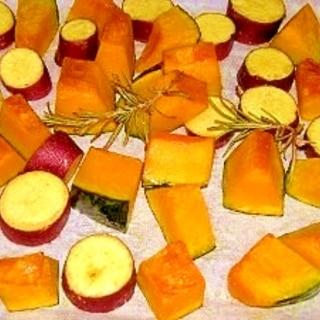 サツマイモと南瓜のオーブン焼き