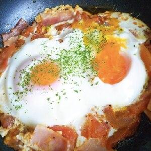 簡単トマトエッグ★朝食ランチに◎シャクシュカ