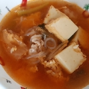 身体の芯からポッカポカ!はるさめキムチスープ