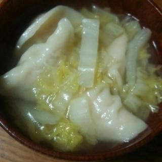 水餃子と白菜のスープ