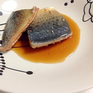 めんつゆで(^○^)サバの煮つけ