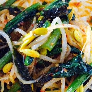 韓国風ピリ辛もやしと小松菜のナムル
