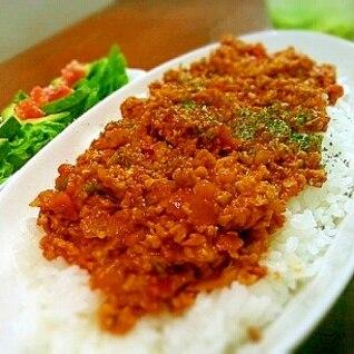鶏ひき肉と無水鍋で♡ヘルシーキーマカレー
