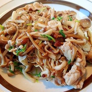 ❤豚肉とたっぷりきのこと豆苗の長崎皿うどん❤