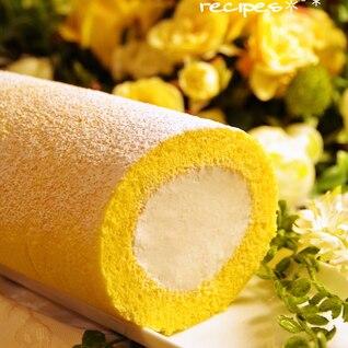 ホットケーキミックスで超簡単♪基本のロールケーキ♥