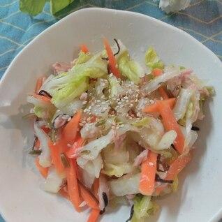 白菜大量消費!ご飯がすすむ!白菜とツナ缶のサラダ