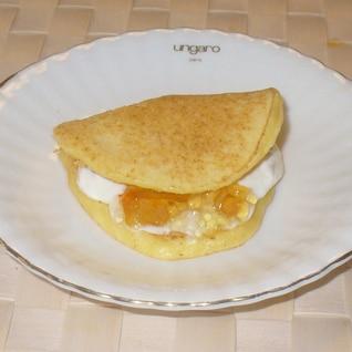 ワッフル風ホットケーキ♪チーズオレンジ風味