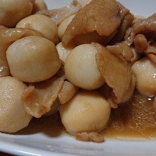鶏皮と里芋の甘辛煮