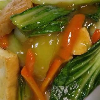チンゲン菜と厚揚げのオイスター炒め