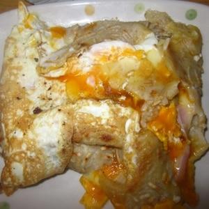 とろ~りチーズと卵のそば粉のガレット♪