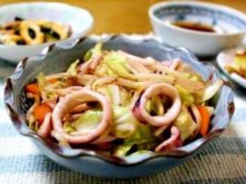 イカの野菜炒め
