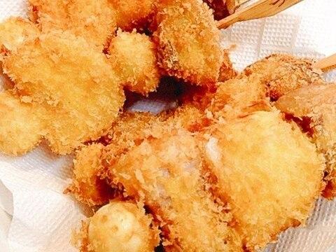 ガッツリ系☆豚バラブロックの串揚げ