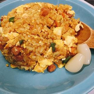冷蔵庫にあるもので簡単カレー炒飯(チャーハン)