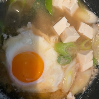 たまごと豆腐のお味噌汁〜♪