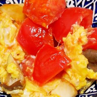 トマトとエリンギの卵炒め