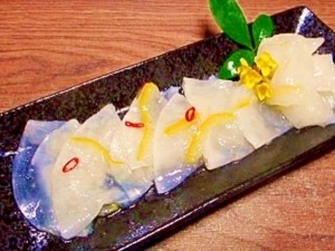 スライス大根☆柚子茶甘酢漬け