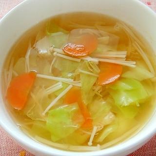 キャベツとえのきの和風スープ