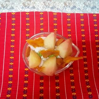 冷凍フルーツでヨーグルトデザート