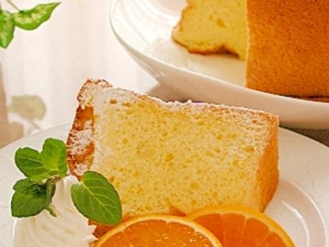 オレンジジュースで★オレンジシフォンケーキ