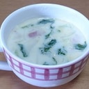 短時間で作るチンゲン菜と豆乳のスープ