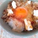 クリームチーズの卵かけご飯