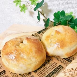 クリームチーズとあんこのくるみパン*