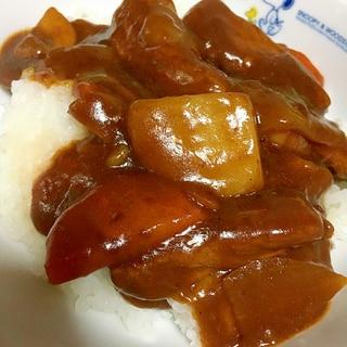 ステーキ肉を使ったハヤシライス