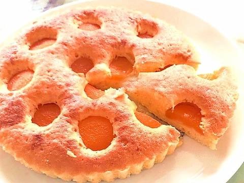 アプリコット缶で!杏のシンプルバターケーキ♪