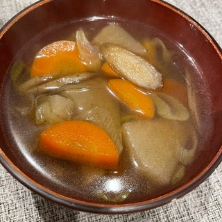 麺つゆで⭐簡単けんちん汁