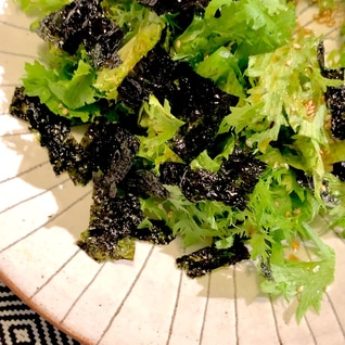 シンプルイズベスト!わさび菜の「超」簡単サラダ