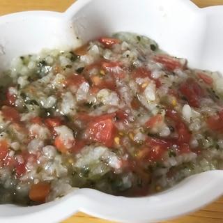 【離乳食】しらすと小松菜トマトリゾット