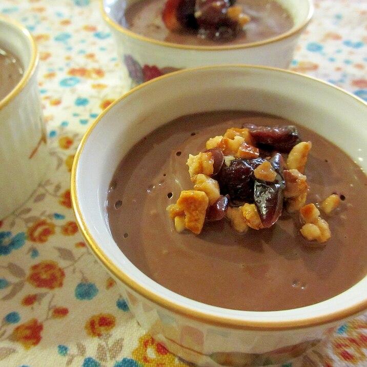豆腐と寒天でチョコムース風