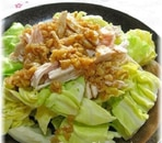 春キャベツと蒸し鶏のホットサラダ