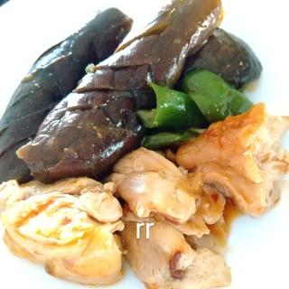 ボリュームたっぷり☆鶏肉ナスピーマンの炒め煮