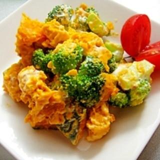 かぼちゃとブロッコリーのサラダ