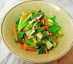 *小松菜とグリルきのこの和え物*